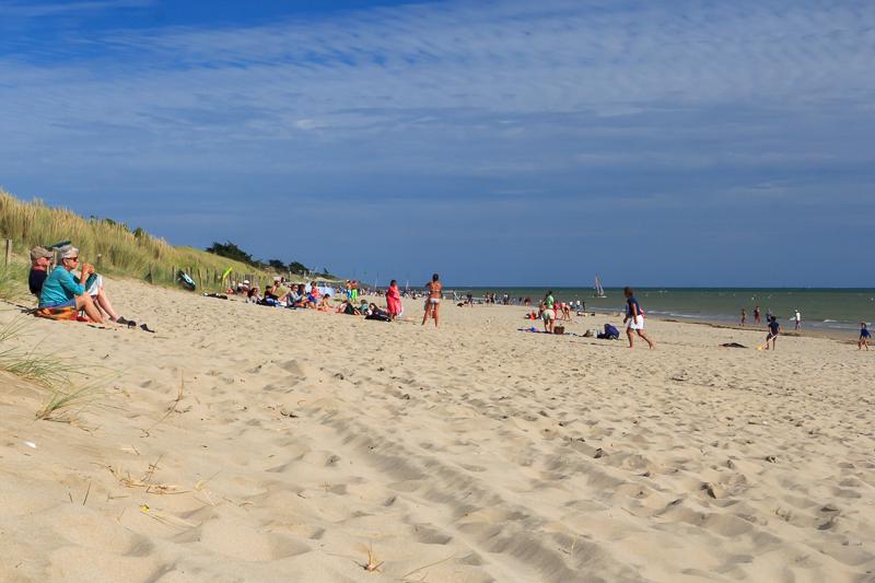 La plage des Prises à la Couarde