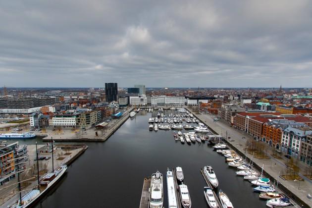 vue du Mas sur le port