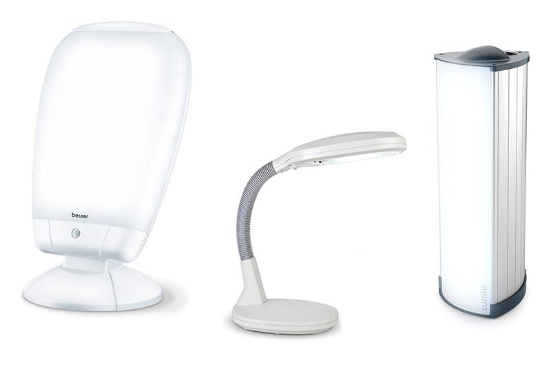 Différents modèles de lampes de luminothérapie
