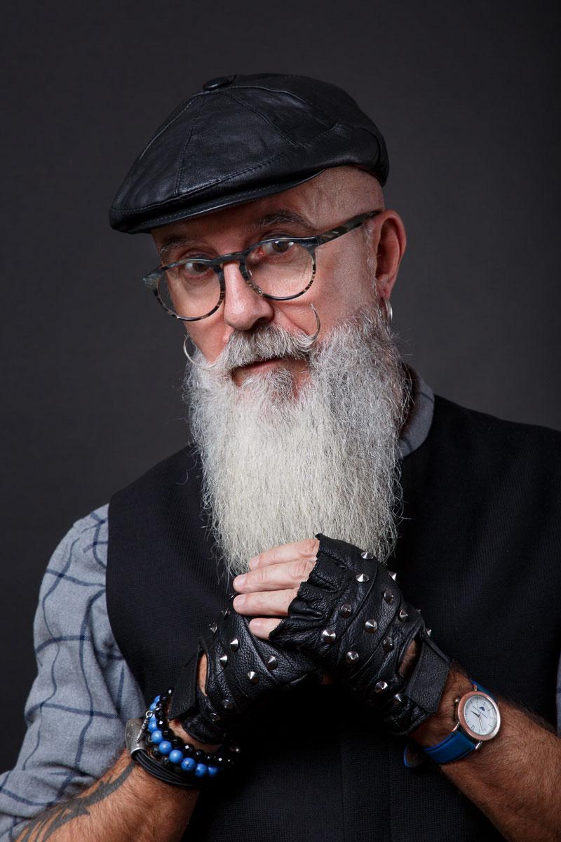 Mannequin senior longue barbe hipster