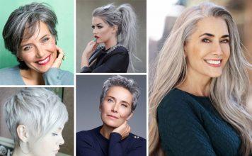 Des idées de coiffure avec les cheveux gris
