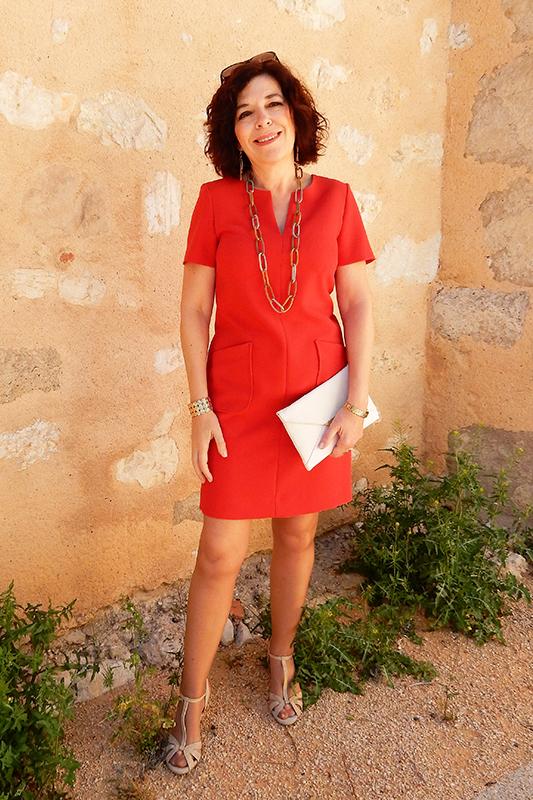 Robe clémence rouge de chez Caroll