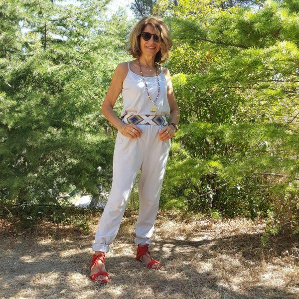 combinaison pantalon en coton léger