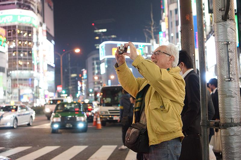 Voyageur de Japaventura lors de la découverte de Tokyo